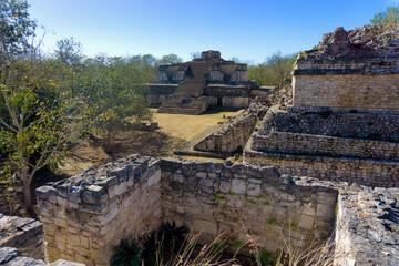 Ruins of the ancient Mayan city of Ek Balam near Valladolid, Mexico