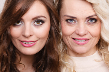 Adult mother and daughter portrait