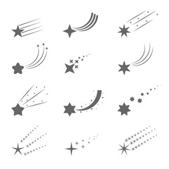 Shooting star icons