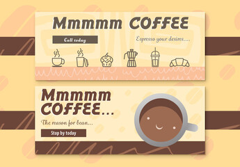Two Coffee Shop Web Banners
