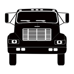 Isolated truck silhouette