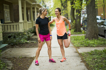 Two Beautiful Female Joggers
