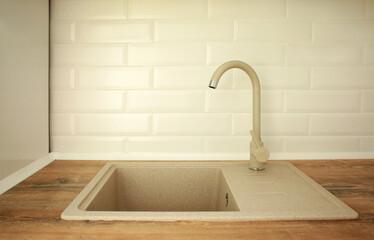 Kitchen sink in modern interior