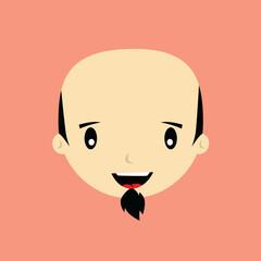 cartoon expression face male guy man vector art