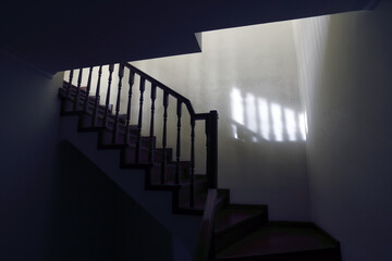 Photo sur Plexiglas Escalier Scary stairs to the loft