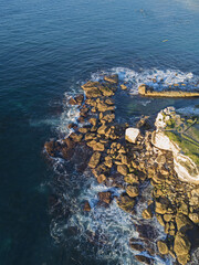 Rock formation at Dolphins point, Coogee, Australia