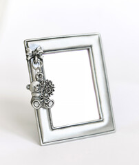 Silver children's photo frame