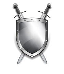 Shield with Crossed Swords