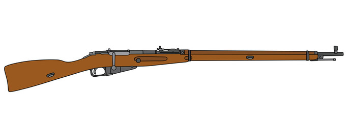 Old long military rifle