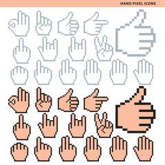 hand pixel icons