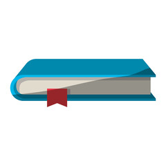 colorful graphic of book with bookmark without contour and half shadow vector illustration