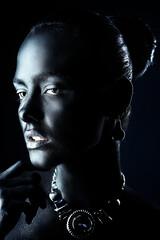 shiny black skin