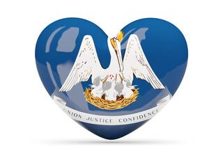 Flag of louisiana, US state heart icon