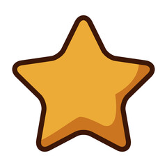 gold star icon cartoon game style vector illustration