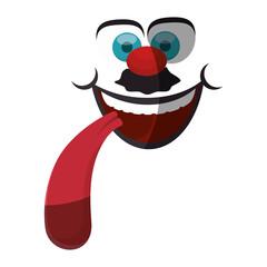 April fools day cartoon face icon vector illustration graphic design