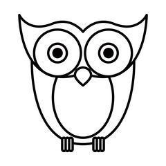 sketch silhouette image owl bird vector illustration
