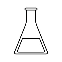 sketch silhouette image glass beaker for laboratory vector illustration