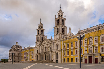 Building of National Palace in Mafra ,Portugal