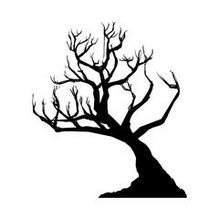 Dry tree silhouette icon vector illustration graphic design