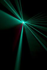 Laser beam  light blue on a black background
