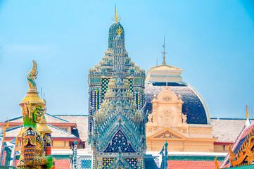 The Giant Demon Guardian at Wat Phra Kaew, Grand Palace, Bangkok, Thailand.
