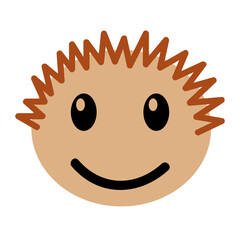 head boy happy expression vector illustration design