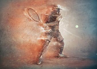 Fototapeta abstract tennis player obraz