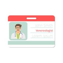 Venereologist medical specialist badge template