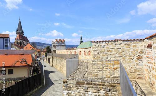 Bardejov in Slovakia, Presov region  Small street along