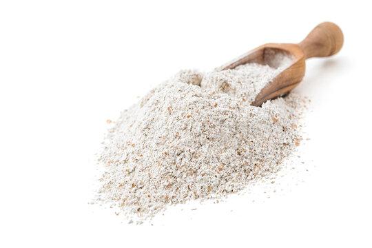 Rye flour in scoop