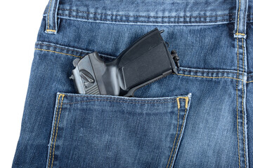 gun in a pocket