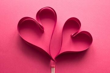 ハートとマッチ 愛情のイメージ