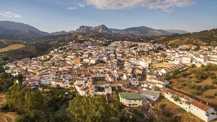 Riogordo white village in Malaga, Spain