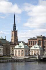 Building and Church on Riddarholmen Island; Old Town - Gamla Stan, Stockholm