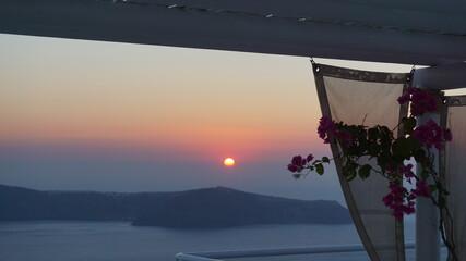Photo of iconic Santorini volcanic island at summer, Cyclades, Greece