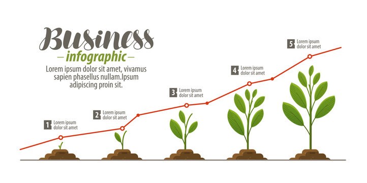 Business concept, infographic. Template for presentation, graph, diagram, chart. Vector illustration