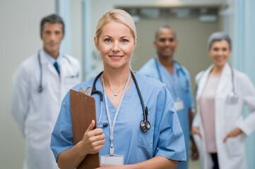 Young nurse and teamwork
