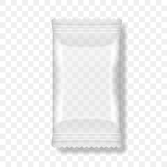 White Packaging For Snacks, Chips, Sugar, Spices, Or Other Food