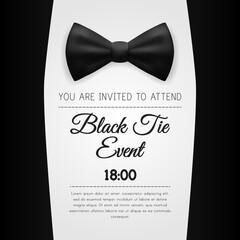 Elegant Black Tie Event Invitation Template