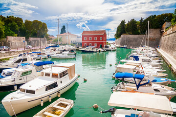 Canvas Prints City on the water small Fosa bay in Zadar