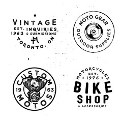 Retro badges templates for motorcycles repair