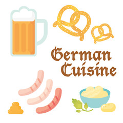 German Cuisine Flat Vector Icon
