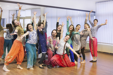 Group of bollywood dancers
