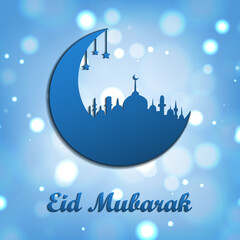 Eid Mubarak. Muslim traditional holiday. For your design.