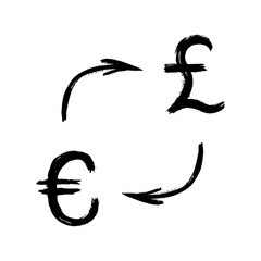 Currency - Grunge - Exchange - Pound and Euro
