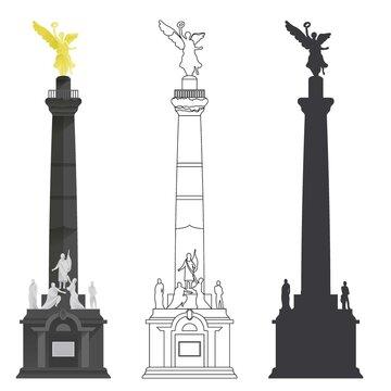 EL ÁNGEL DE LA INDEPENDENCIA. Mexico DF. Mexico. historic places of America.