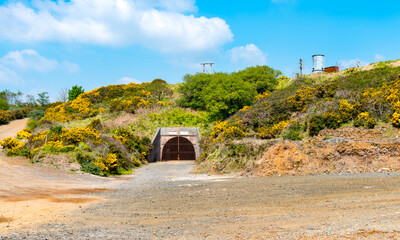 The Tuckingmill Decline entrance to South Crofty Mine at Pool Cornwall.