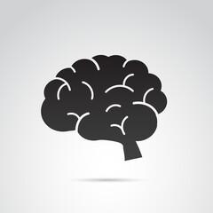 Brain vector icon.