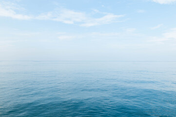 Beautiful ocean and blue sky background