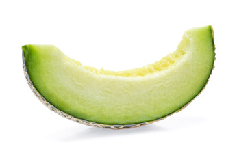 Slices of melon isolated on white background.